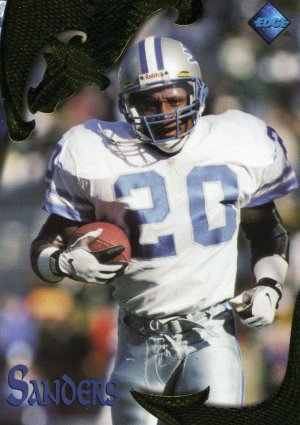 1997 97 Excalibur Barry Sanders card #47 Detroit Lions