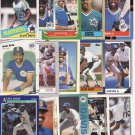 15 Different Alvin Davis cards 85(RC)'s-92's Seattle Mariners