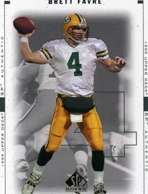 1999 99 SP Authentic Brett Favre card #32 Green Bay Packers