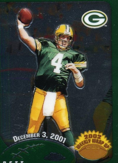 2002 02 Topps Chrome Weekly Wrap up Brett Favre card #157 Green Bay Packers