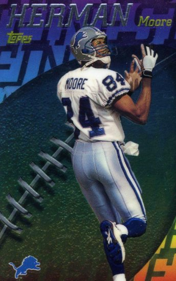 1998 98 Topps Mystery Finest Herman Moore card #M17 Detroit Lions