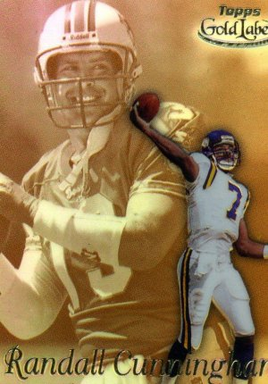 1999 99 Topps Gold Label Race to Gold Randall Cunningham card #R4 Minnesota Vikings