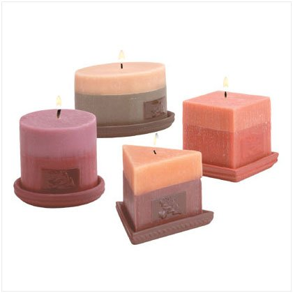 SCENTED DESIGNER CANDLE 4 PIECE SET