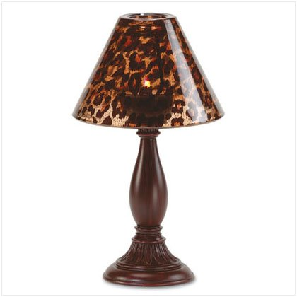 Safari Glass Shade Candlelamp