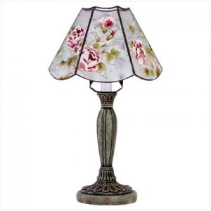Victorian Rose Glass Shadelamp