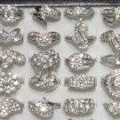 Ladies CZ Rings Silver Wholesale