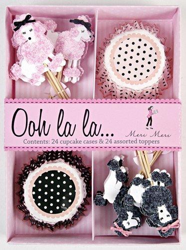 Meri Meri Cupcake Kit Paris Pink Poodle Set (Set of 24)
