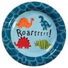 Roarrrr Dinosaur Birthday Party Dessert Plates (Set of 12)