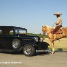 32 Ford and the Vaquero Giclee Art Print 12x16