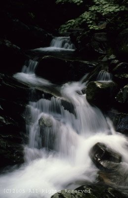 Serenity Falls Smokey Mountains Giclee Art Print 12x16