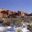 Snow in Arches Giclee Art Print 12x16