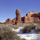 Winter in Arches National Park Giclee Art Print 12x16