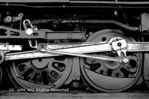 Steamer Drive Wheels Giclee Art Print 12x16