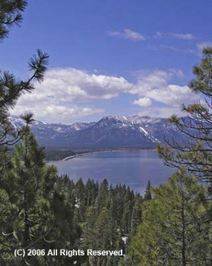 Lake Tahoe View Giclee Art Print 12x16