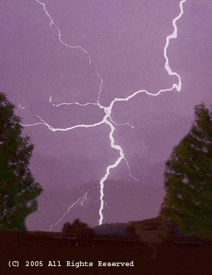 Lighting Strike Giclee Art Print 12x16