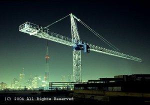City View Crane Giclee Art Print 12x16
