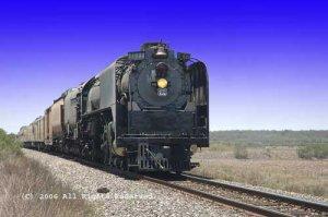 Steamer Engine 844 Giclee Art Print 12x16
