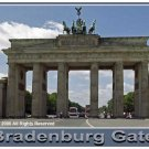 Brandenburg Gate Giclee Art Poster 16x20
