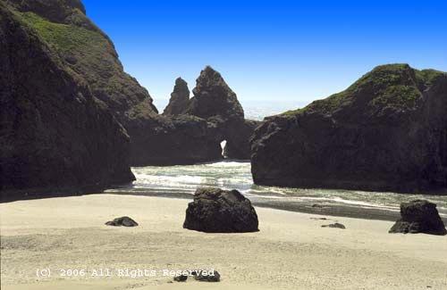 Guarding the Oregon Coast Giclee Art Print 12x16