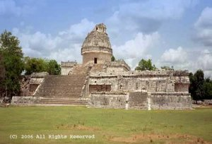 Maya Observatory Giclee Art Print 12x16