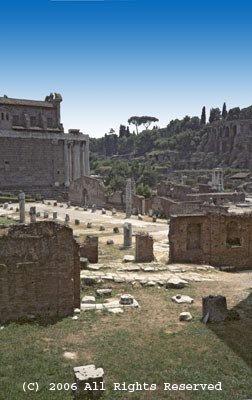Roman Ruins Giclee Art Print 12x16