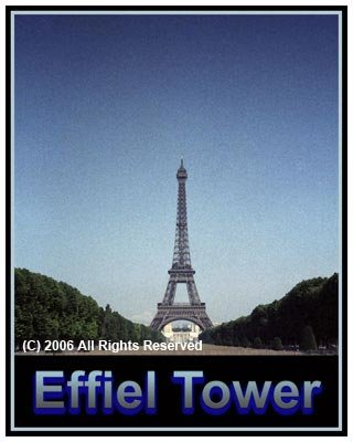 The Effiel Tower Giclee Art Poster 16x20