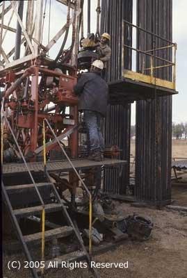 Oil Field Operators Giclee Art Print 12x16
