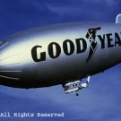 Goodyear Blimp Giclee Art Print 12x16