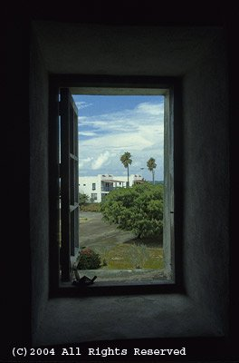 Window on the Villa Giclee Art Print 12x16