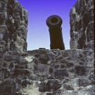 Cannon on the Wall Giclee Art Print 12x16