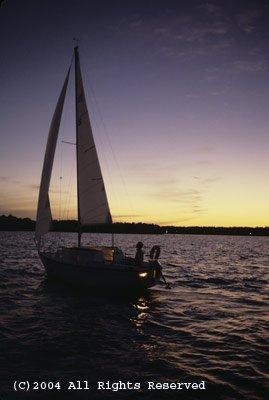 Dusk Sailing Giclee Art Print 12x16