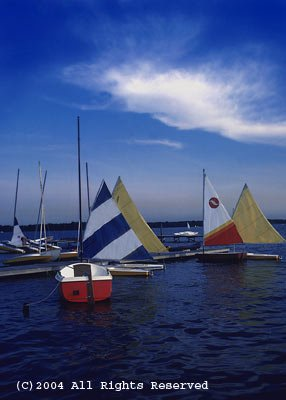 Clear Lake Bay Sailing Giclee Art Print 12x16