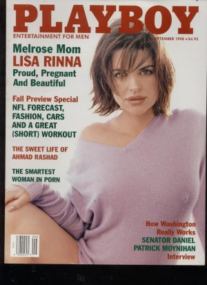 Playboy 1998  Sept A very pregnant Lisa Rinna