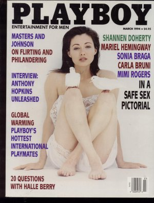 Playboy March 1994 Shannen doherty Halle Berry