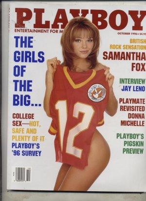 Playboy Magazine Oct 1996 Brit Samantha Fox Jay Leno