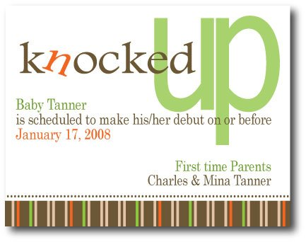 Knocked Up  Invitation/Announcement