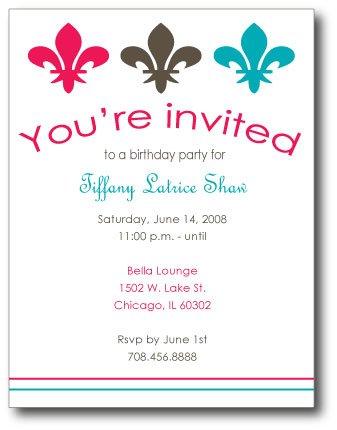 Fleur De Lis Invitation/ Announcement
