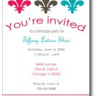 Fleur De Lis Invitation/ Announcement