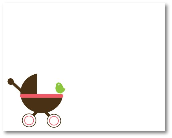 10 Baby Carriage Stationery