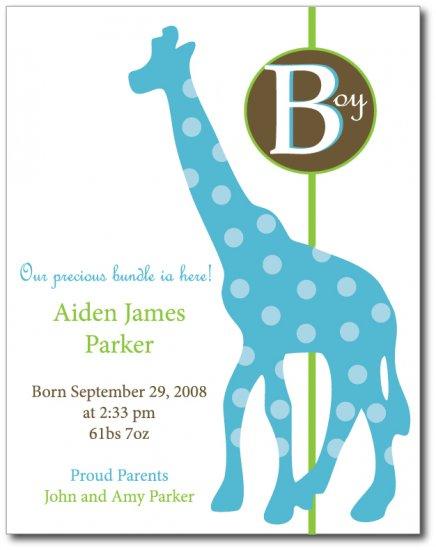 Polka Giraffe Invitation/Announcement
