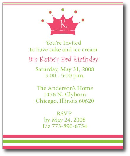 Pretty Princess Invitation/Announcement