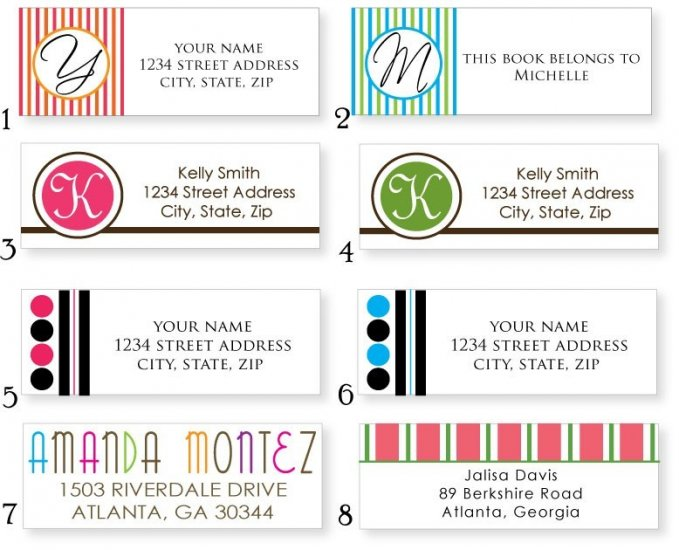 Set of 140 Address / All Purpose Labels 1-16