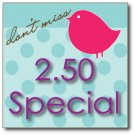 $2.50 Printable Special on Labels N Small Cards
