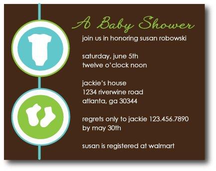 Onsies & Booties Invitation/Announcement