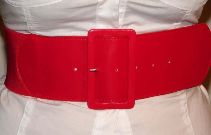 Red Stretchable Waist Belt