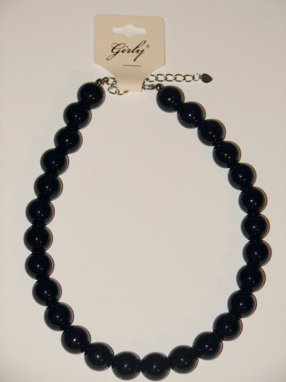 Bead Necklace (Black)