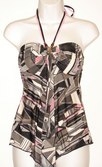 Women's Party Top - Pink & Black
