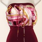 Burgundy Satin-Like Halter Top