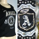 """Fit 4 Life"" - Junior ""Army Girl"" Angel Tank Tops with Glitter Seal"