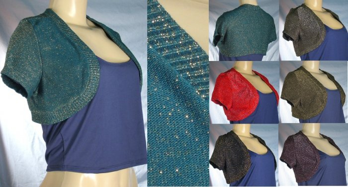 Blue River - Junior Knit Shrugs with Metallic Thread Accents